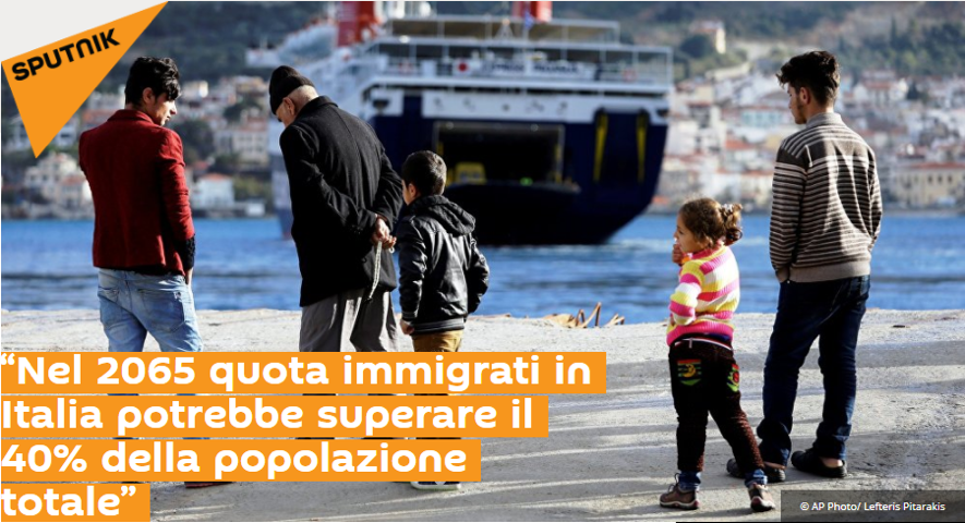 In 2065 quota immigrants in Italy could exceed 40%